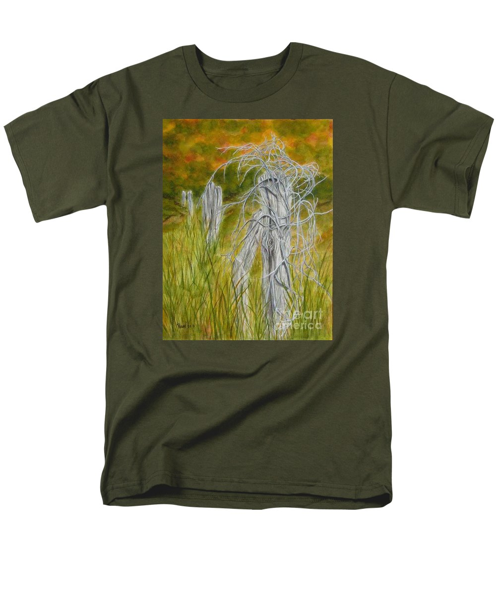 Landscape Men's T-Shirt (Regular Fit) featuring the painting Twisted by Regan J Smith