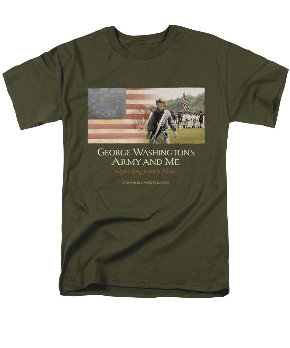 America Men's T-Shirt (Regular Fit) featuring the digital art Elijah And George Film by 18th Century Slang