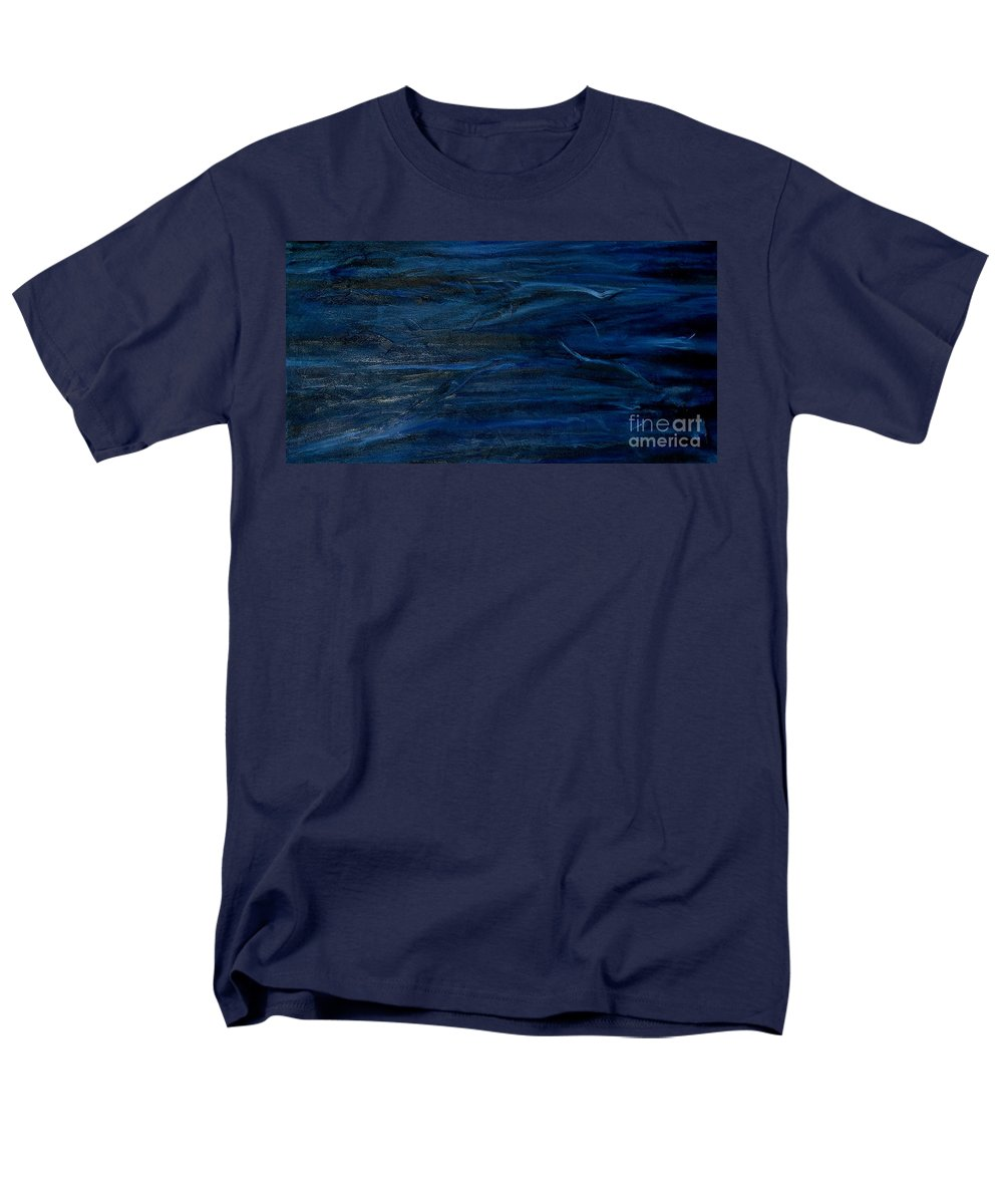 Abstract Men's T-Shirt (Regular Fit) featuring the painting Immense Blue by Silvana Abel