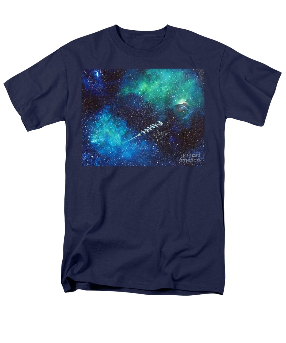 Spacescape Men's T-Shirt (Regular Fit) featuring the painting Reaching Out by Murphy Elliott