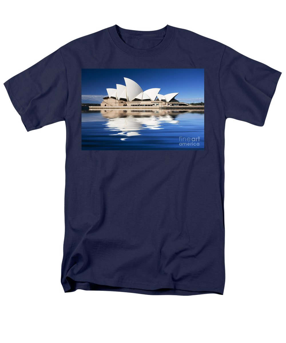 Sydney Opera House Men's T-Shirt (Regular Fit) featuring the photograph Sydney Icon by Avalon Fine Art Photography