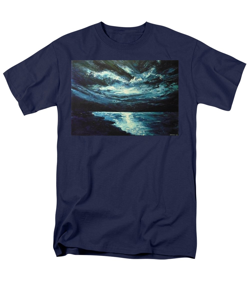 Landscape Men's T-Shirt (Regular Fit) featuring the painting A Milky Way by Ericka Herazo