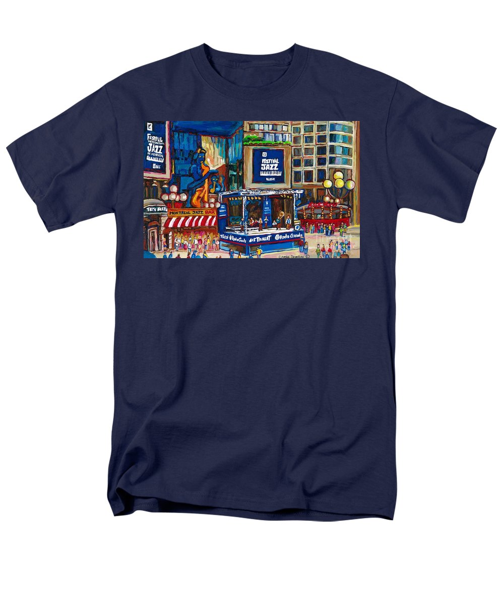 Montreal Men's T-Shirt (Regular Fit) featuring the painting All That Jazz by Carole Spandau