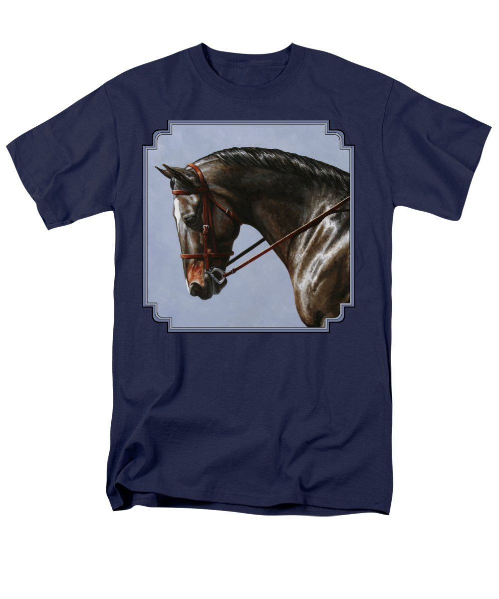 Horse Men's T-Shirt (Regular Fit) featuring the painting Horse Painting - Discipline by Crista Forest