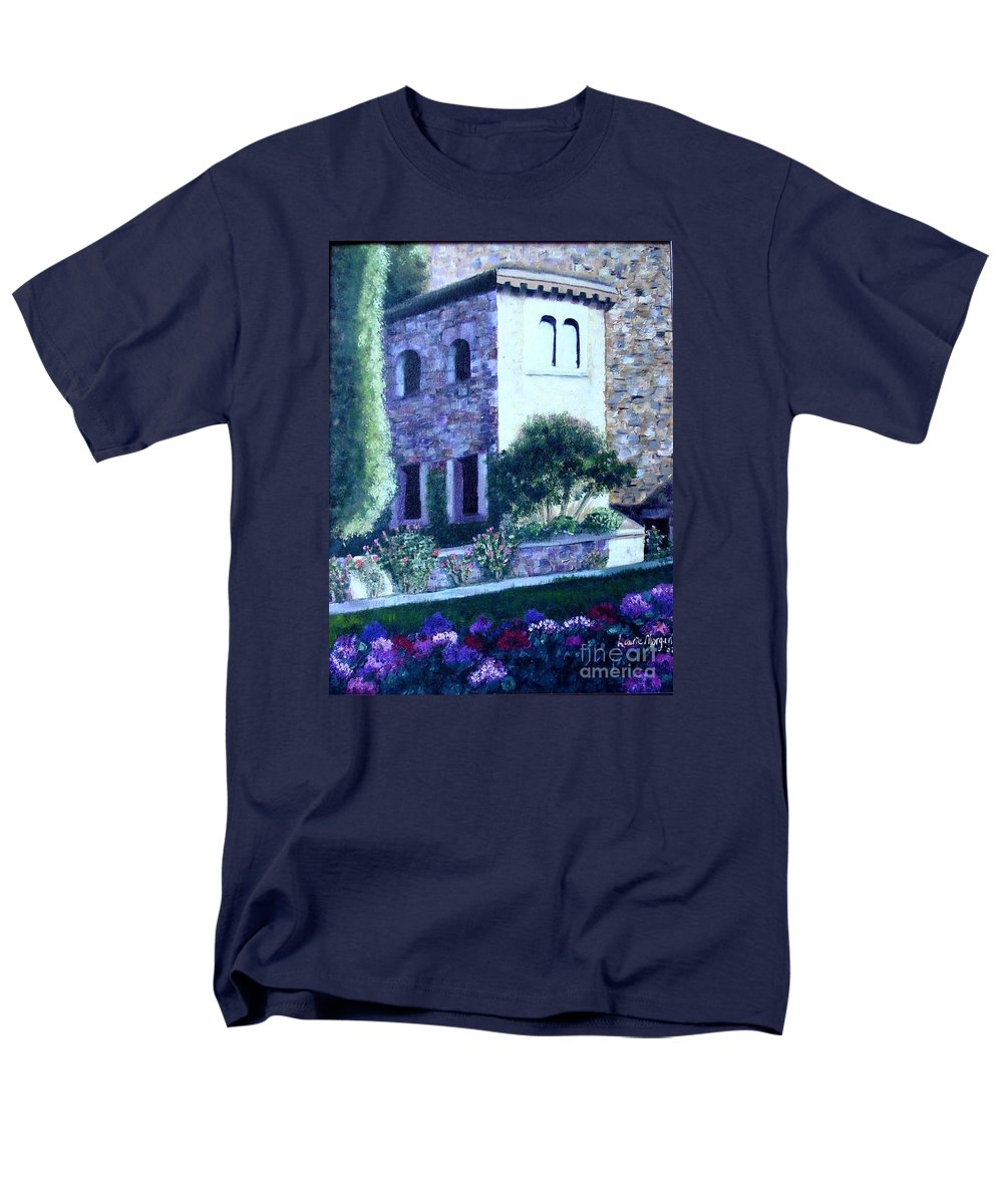 Italy Men's T-Shirt (Regular Fit) featuring the painting Castle Sestri Levante by Laurie Morgan
