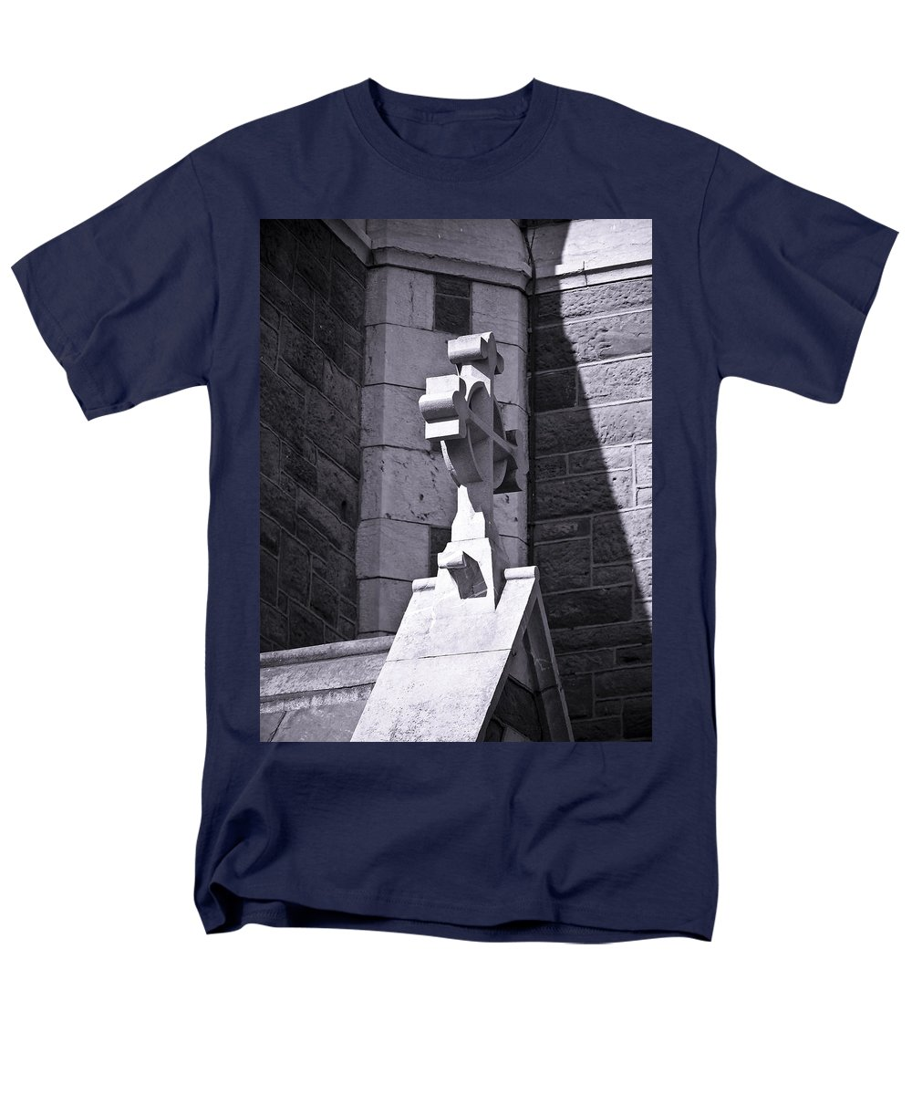 Irish Men's T-Shirt (Regular Fit) featuring the photograph Cross at St. Johns Tralee Ireland by Teresa Mucha
