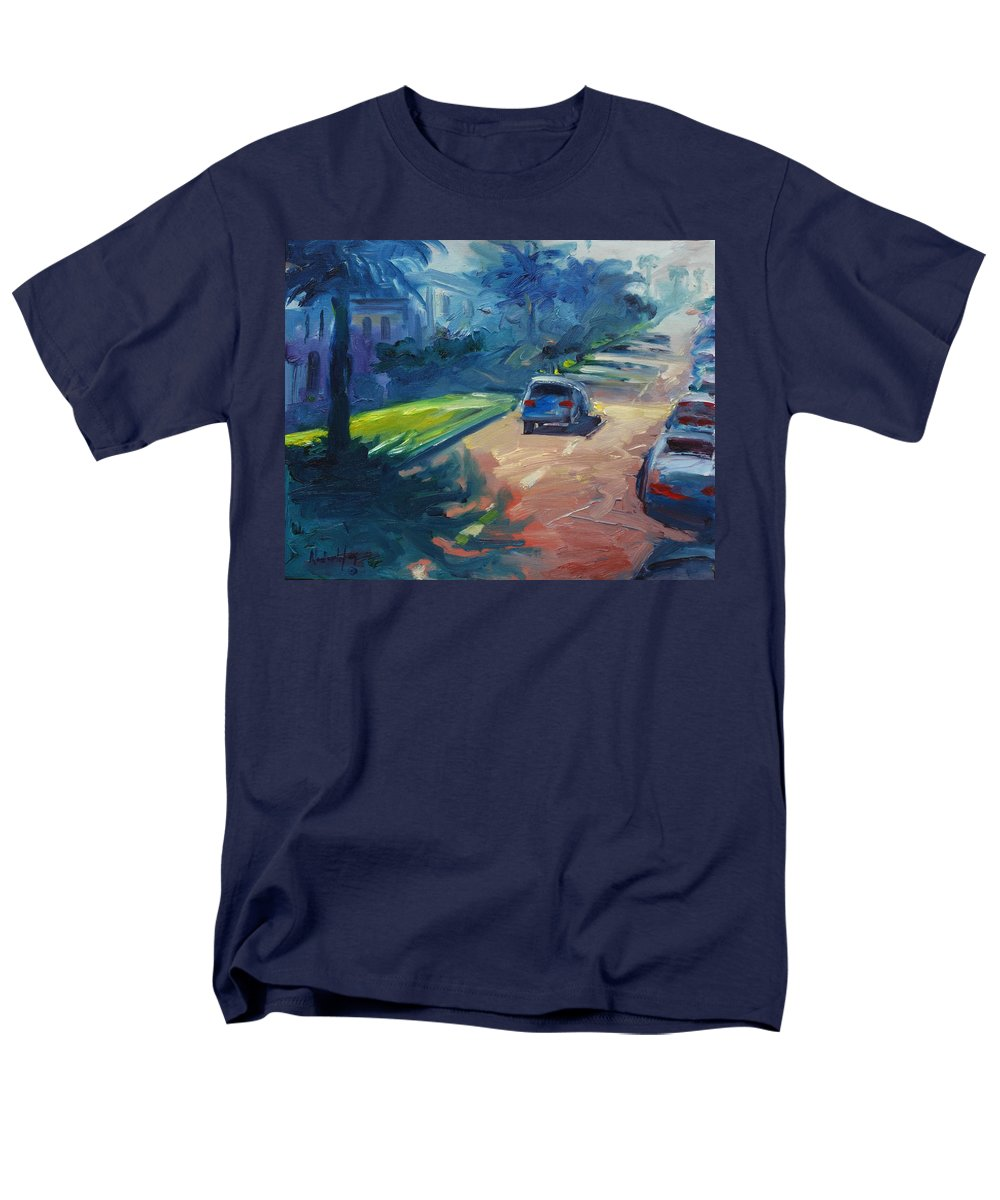 Cityscape Men's T-Shirt (Regular Fit) featuring the painting Dolores street by Rick Nederlof