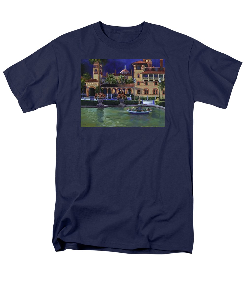St. Augustine\'s Flagler College Campus Men's T-Shirt (Regular Fit) featuring the painting Flagler College II by Christine Cousart