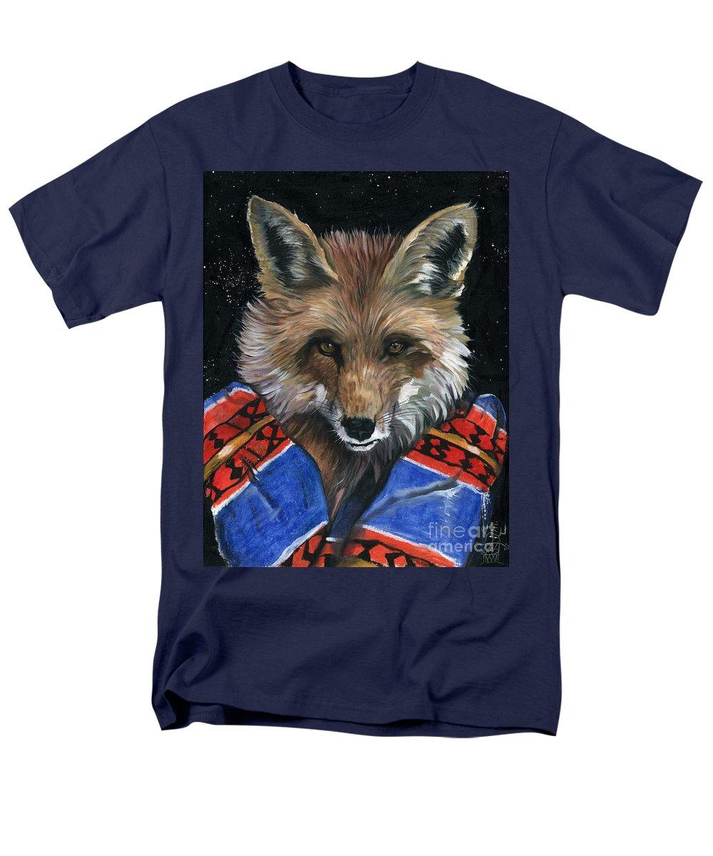 Fox Men's T-Shirt (Regular Fit) featuring the painting Fox Medicine by J W Baker