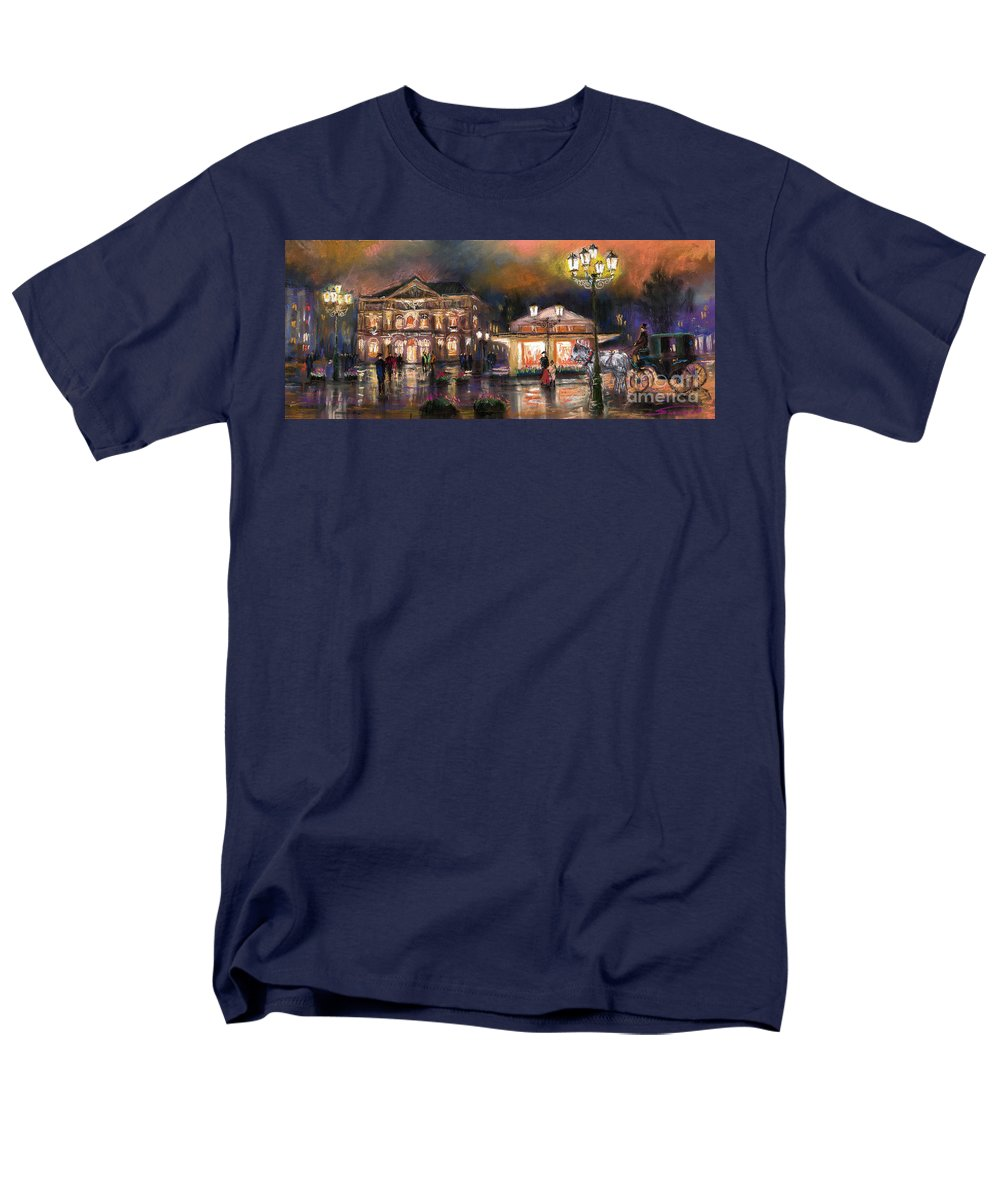 Pastel Men's T-Shirt (Regular Fit) featuring the painting Germany Baden-Baden 14 by Yuriy Shevchuk