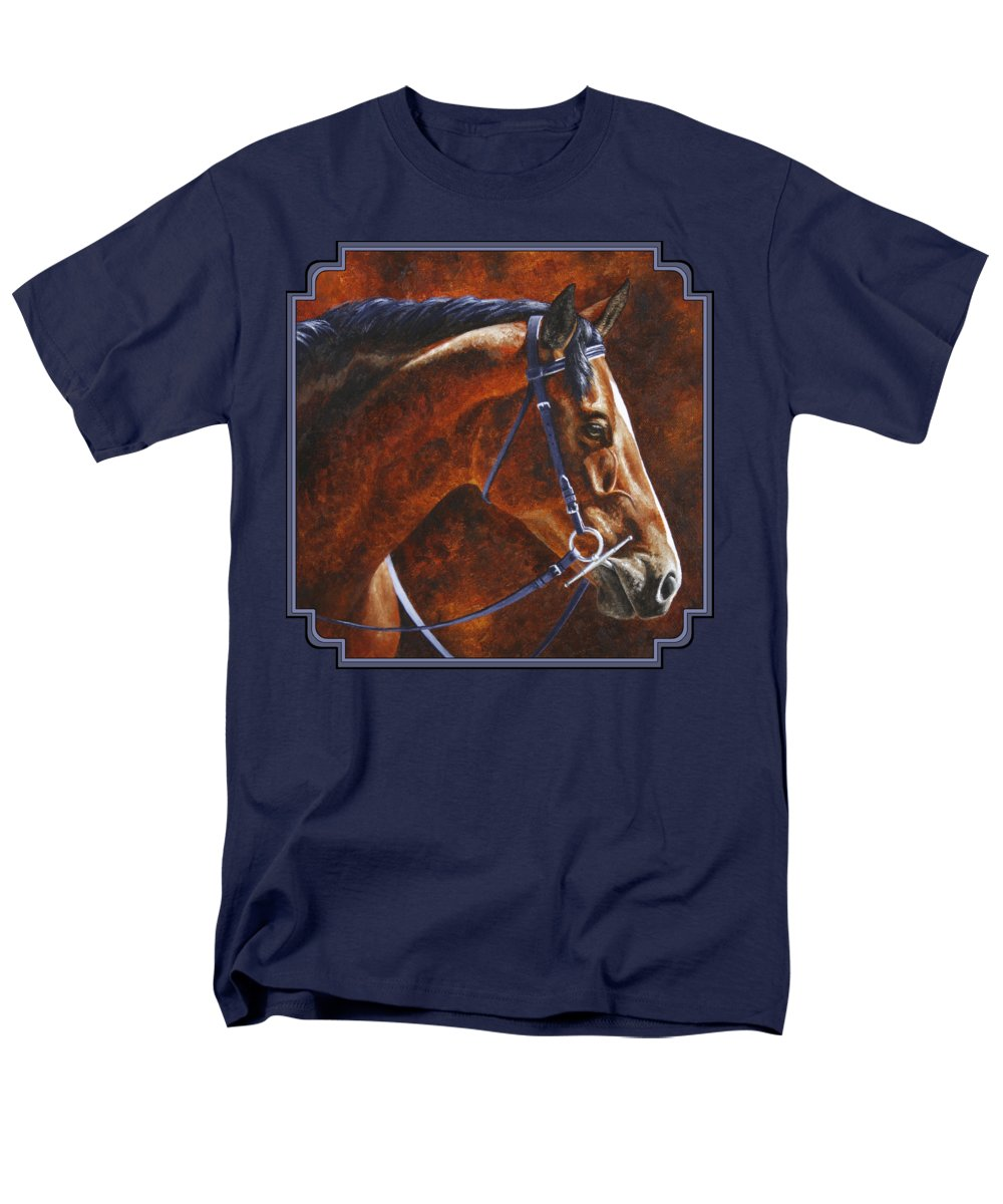 Horse Men's T-Shirt (Regular Fit) featuring the painting Horse Painting - Ziggy by Crista Forest