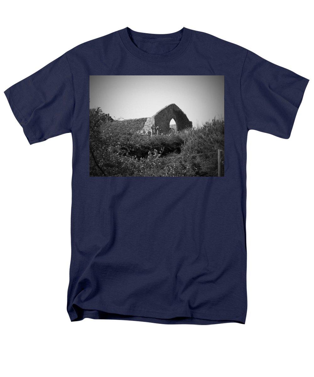 Irish Men's T-Shirt (Regular Fit) featuring the photograph Kilmanaheen Church Ruins Ennistymon Ireland by Teresa Mucha