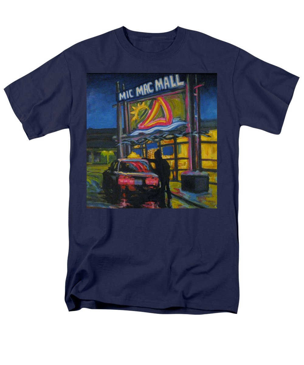 Retail Men's T-Shirt (Regular Fit) featuring the painting Mic Mac Mall Spectre of the next Great Depression by John Malone