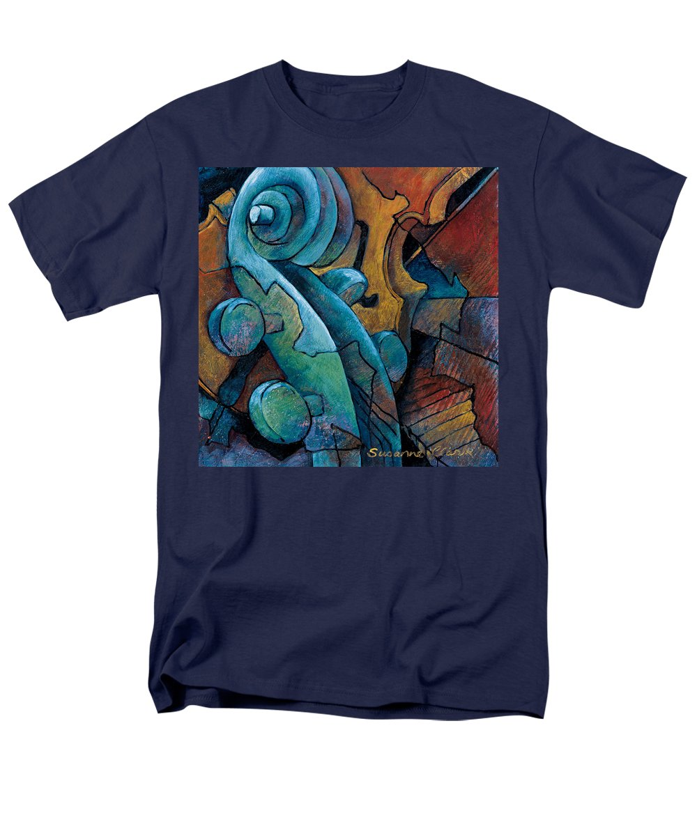 Cello Artwork Men's T-Shirt (Regular Fit) featuring the painting Moody Blues by Susanne Clark