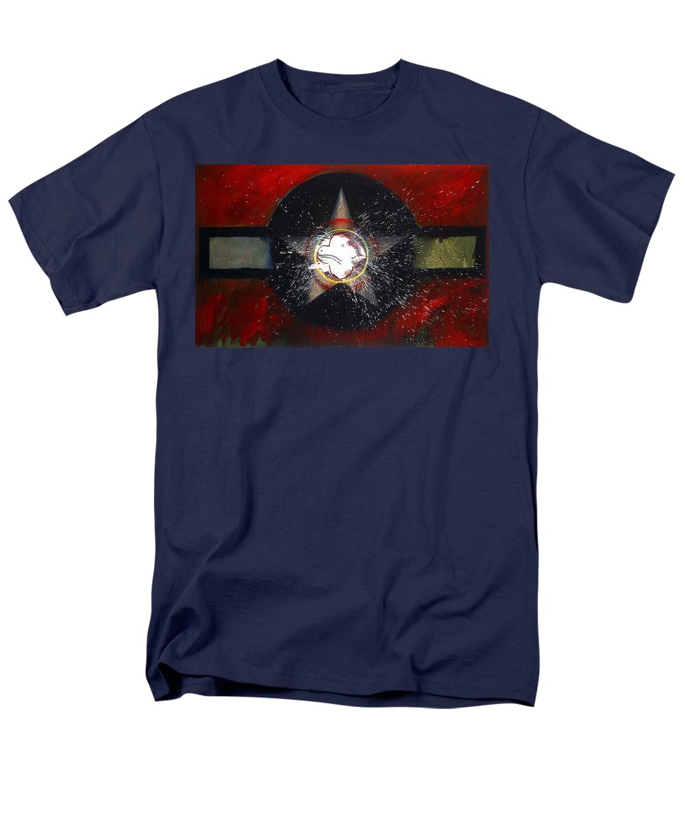 Usaaf Insignia Men's T-Shirt (Regular Fit) featuring the painting My Indian Red by Charles Stuart