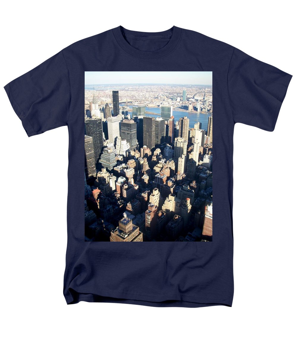 Nyc Men's T-Shirt (Regular Fit) featuring the photograph Nyc 4 by Anita Burgermeister