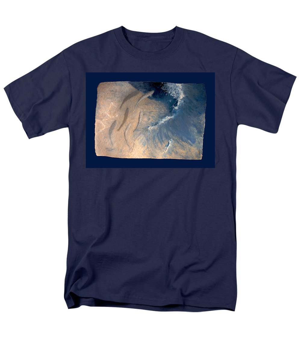 Seascape Men's T-Shirt (Regular Fit) featuring the painting Ocean by Steve Karol