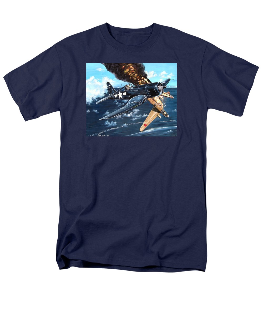 Military Men's T-Shirt (Regular Fit) featuring the painting Scratch One Betty by Marc Stewart