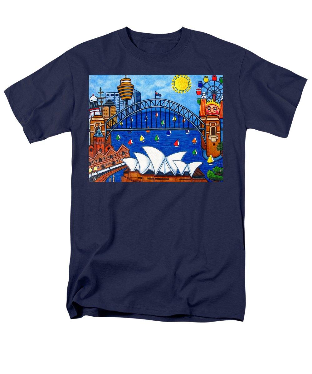 House Men's T-Shirt (Regular Fit) featuring the painting Sensational Sydney by Lisa Lorenz