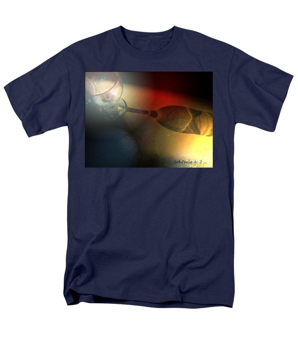 Fantasy Men's T-Shirt (Regular Fit) featuring the photograph Solitude a deux by Miki De Goodaboom