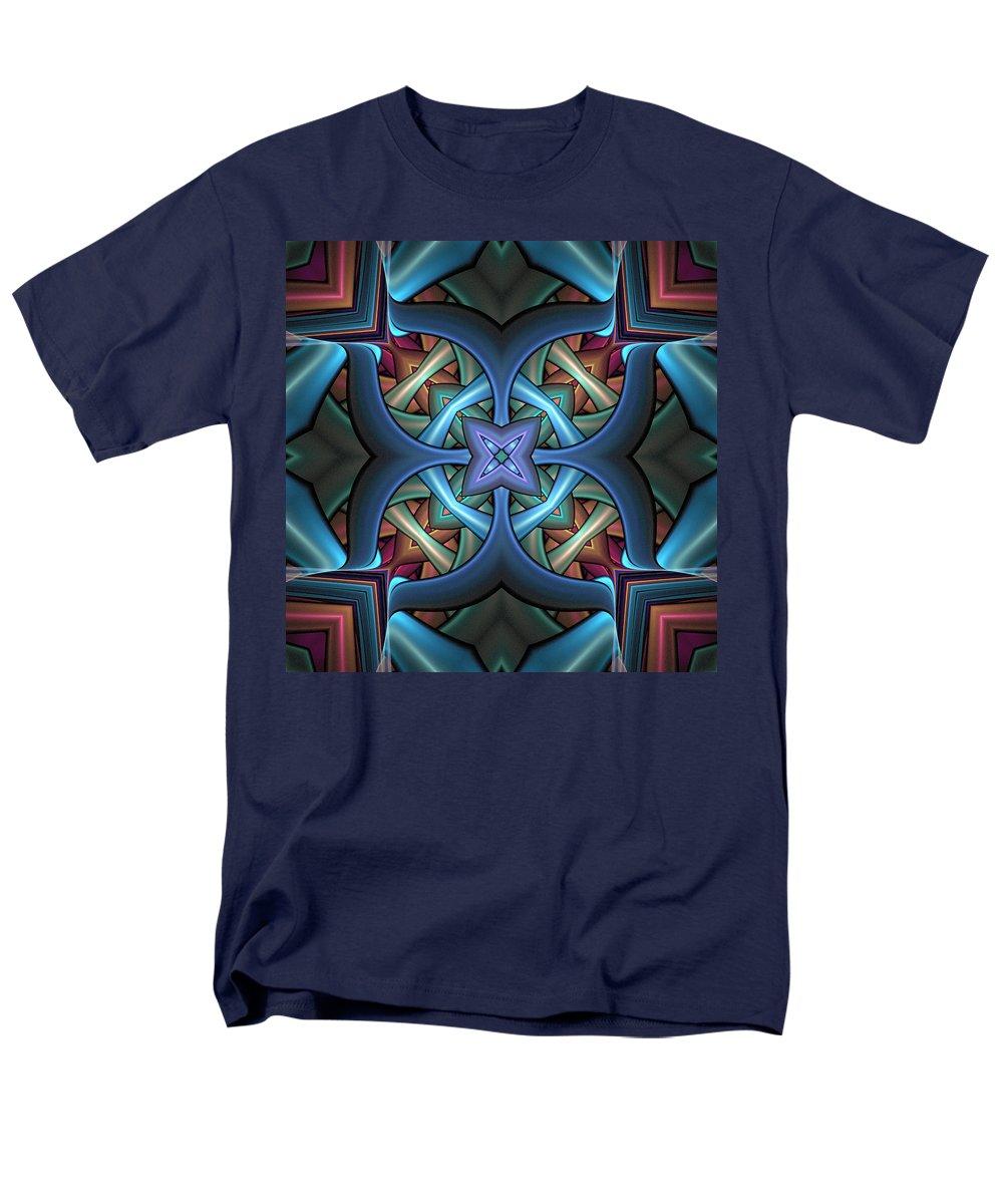 Digital Art Men's T-Shirt (Regular Fit) featuring the digital art Stacked Kaleidoscope by Amanda Moore