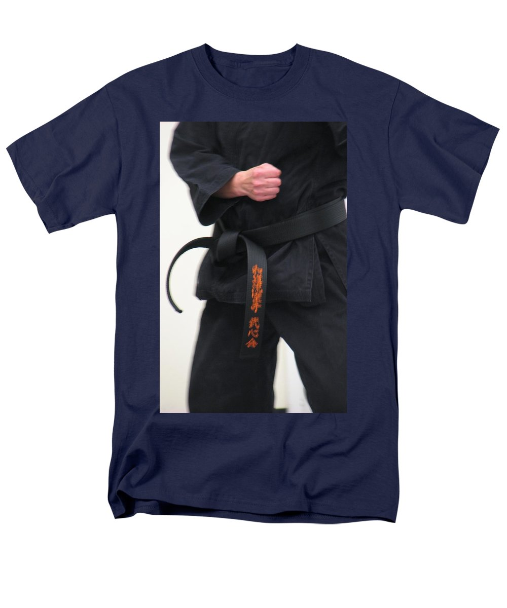 Karate Men's T-Shirt (Regular Fit) featuring the photograph Stands With Fist by Kelly Mezzapelle