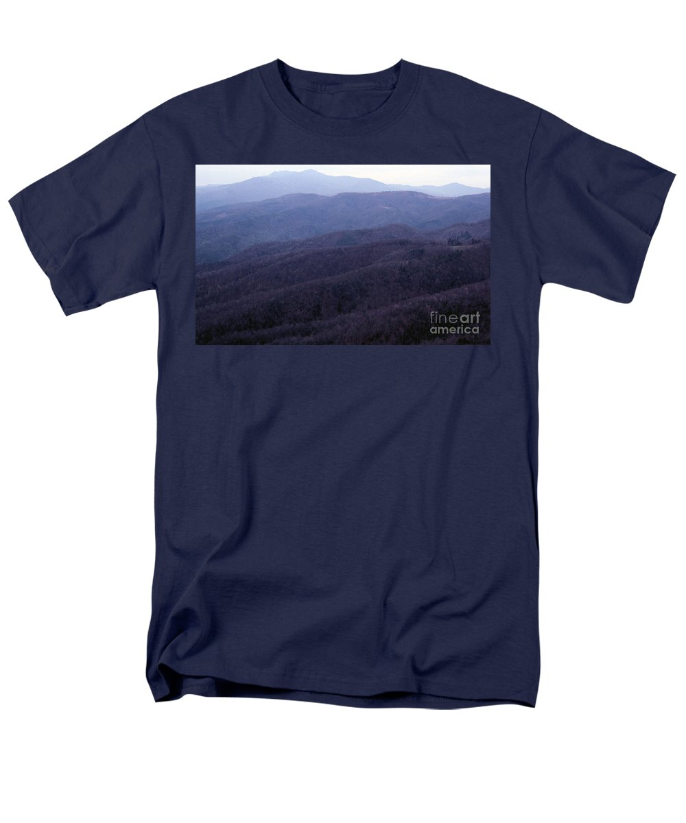 Mountains Men's T-Shirt (Regular Fit) featuring the photograph The Blue Ridge by Richard Rizzo