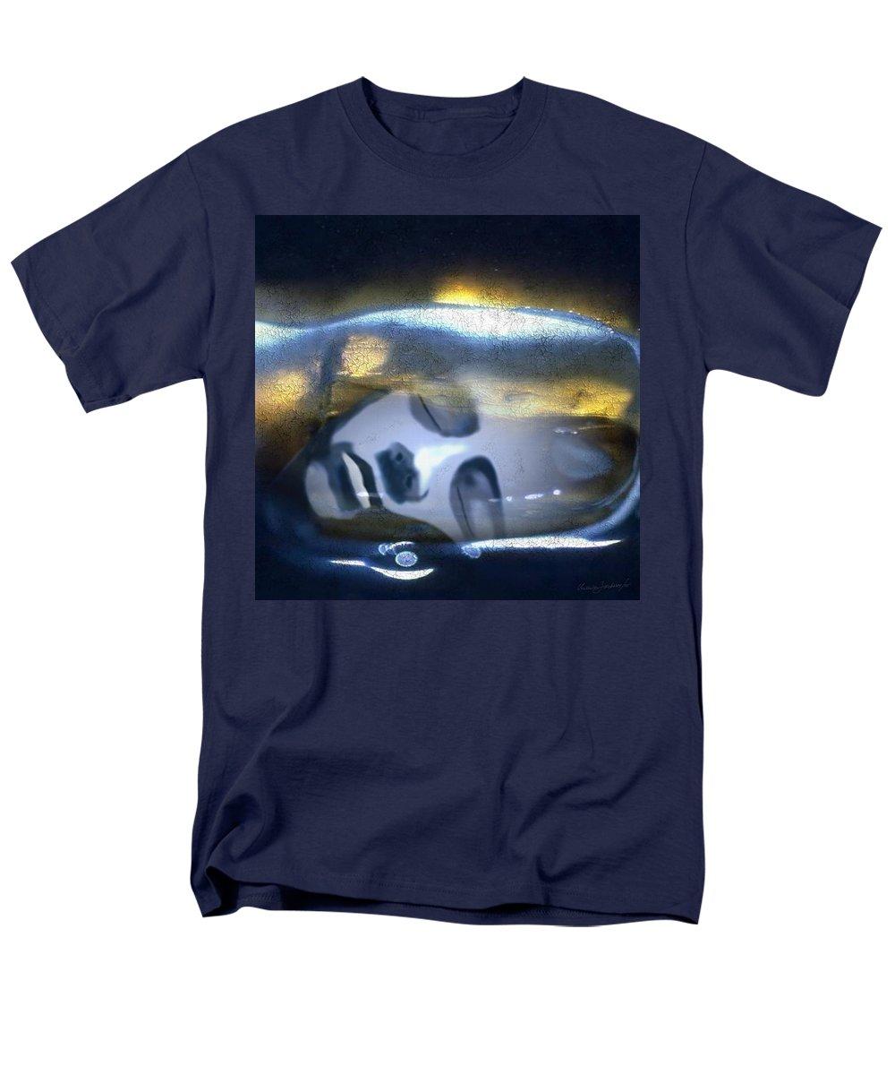 Dream Sky Universe Methaphysics Aura Afterlife Men's T-Shirt (Regular Fit) featuring the digital art The dream by Veronica Jackson