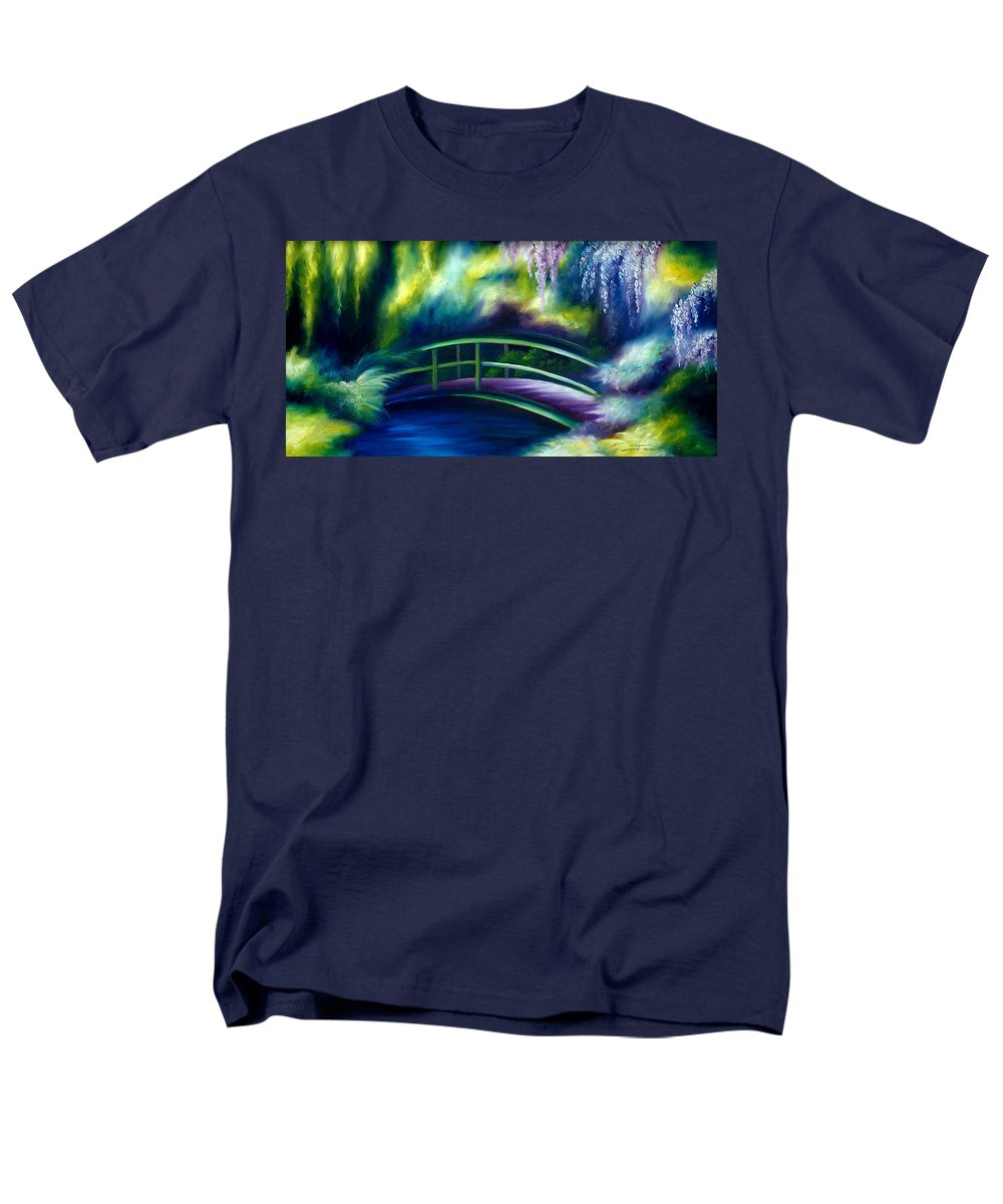 Sunrise Men's T-Shirt (Regular Fit) featuring the painting The Gardens of Givernia by James Christopher Hill