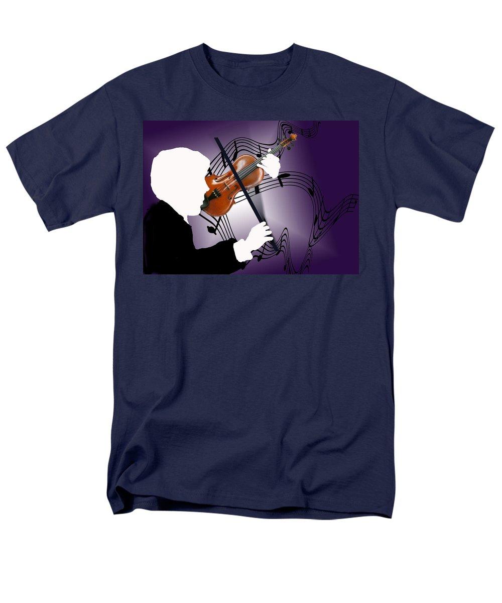 Violin Men's T-Shirt (Regular Fit) featuring the digital art The Soloist by Steve Karol
