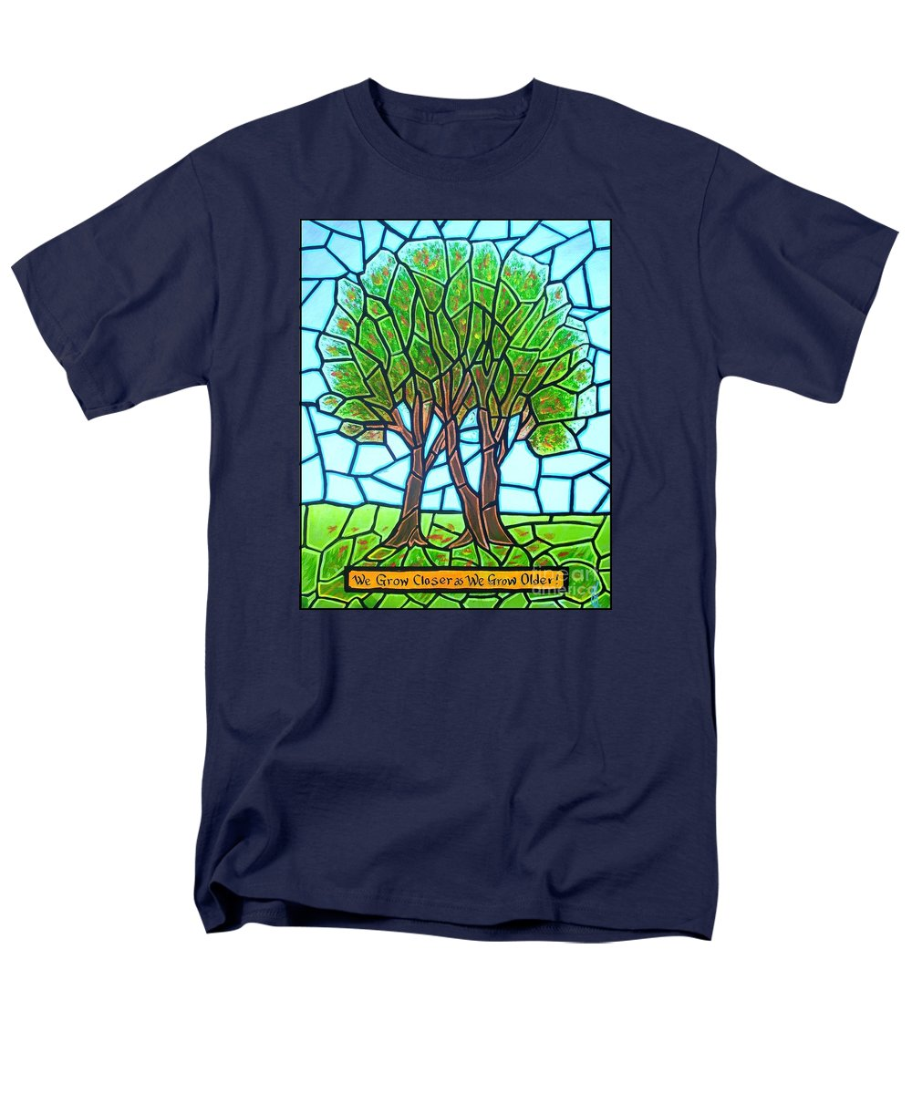 Aging Men's T-Shirt (Regular Fit) featuring the painting We Grow Closer As We Grow Older by Jim Harris