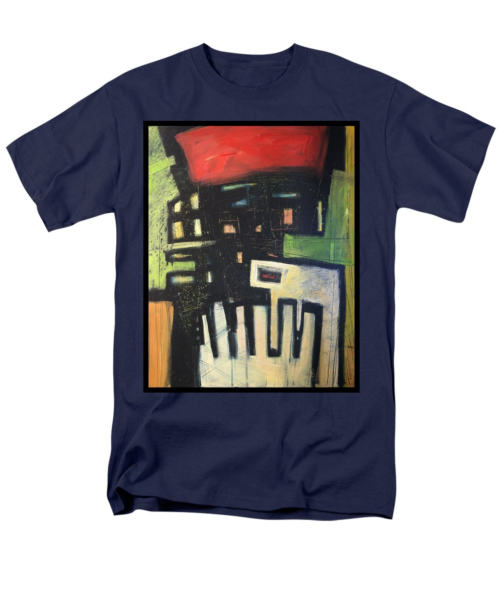 Abstract Men's T-Shirt (Regular Fit) featuring the painting D flat by Tim Nyberg