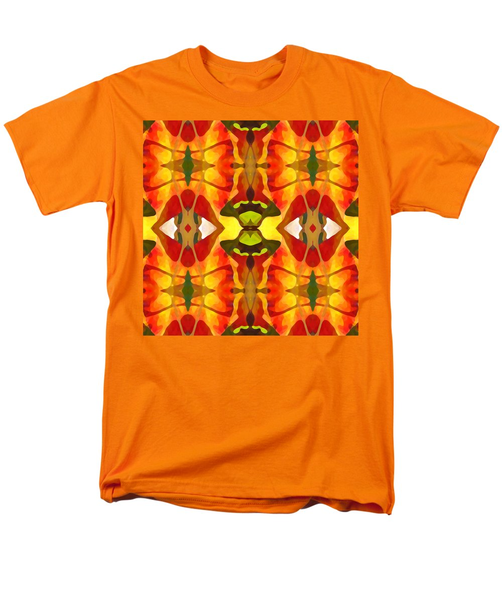 Abstract Men's T-Shirt (Regular Fit) featuring the painting Tropical Leaf Pattern 4 by Amy Vangsgard