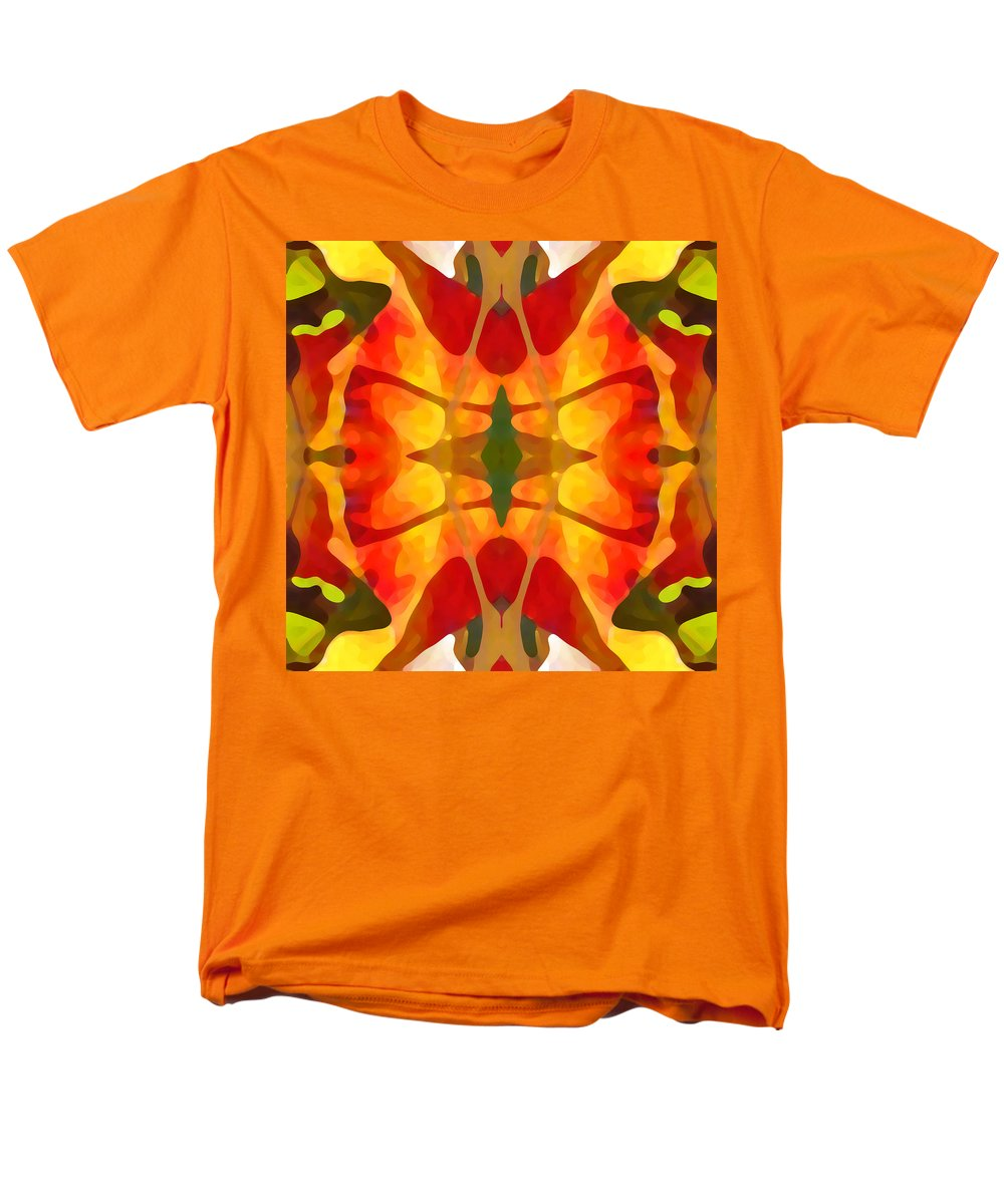 Abstract Men's T-Shirt (Regular Fit) featuring the painting Tropical Leaf Pattern5 by Amy Vangsgard