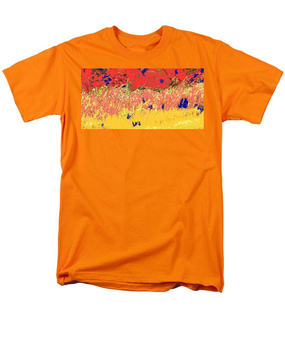 Autumn Men's T-Shirt (Regular Fit) featuring the photograph Autumn grasses by Ian MacDonald