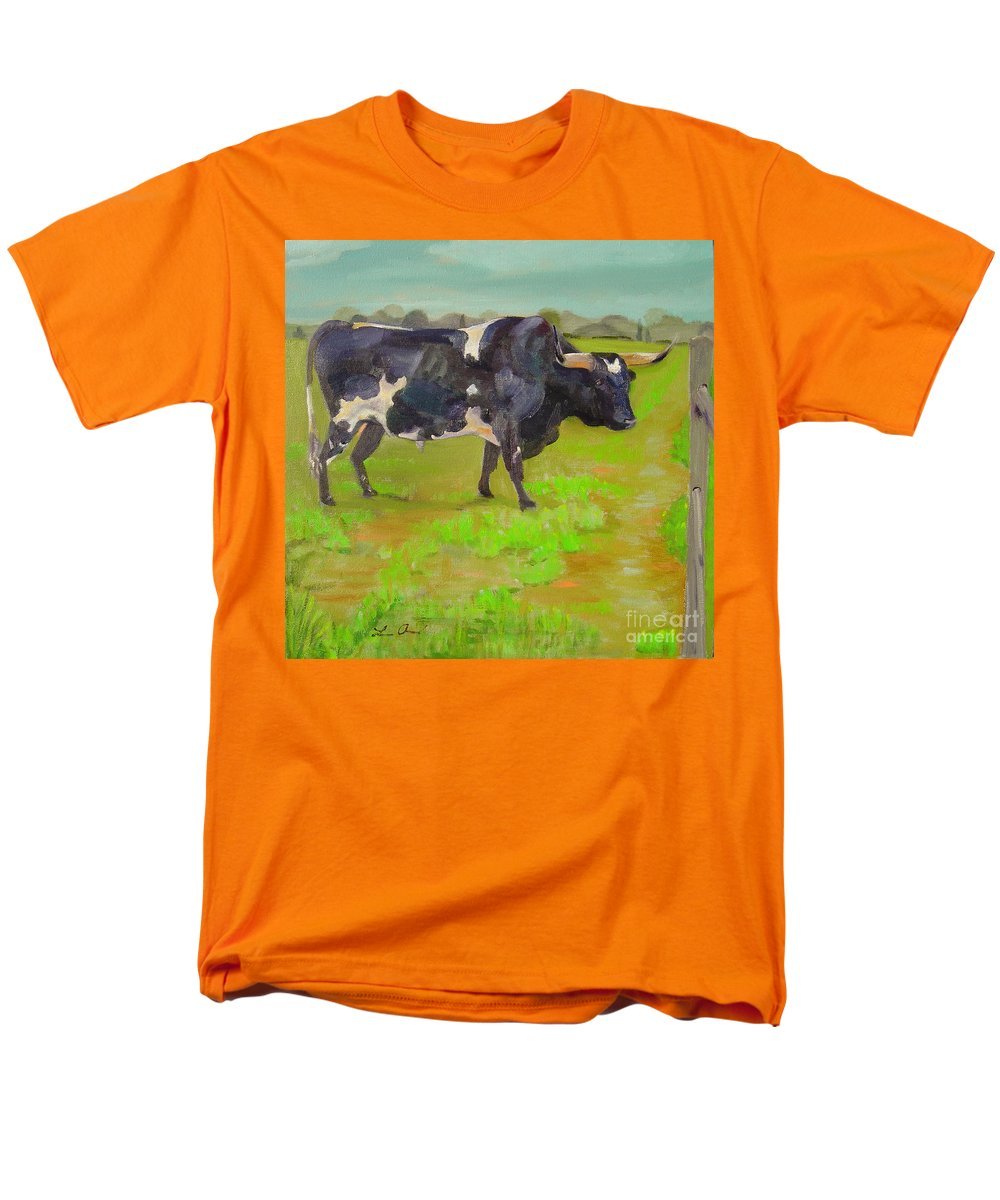 Southwest Men's T-Shirt (Regular Fit) featuring the painting Bold Beauty by Lilibeth Andre