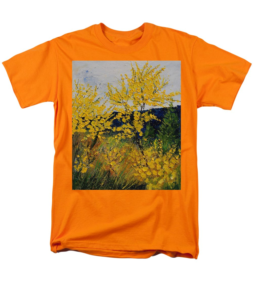 Flowers Men's T-Shirt (Regular Fit) featuring the painting Brooms by Pol Ledent