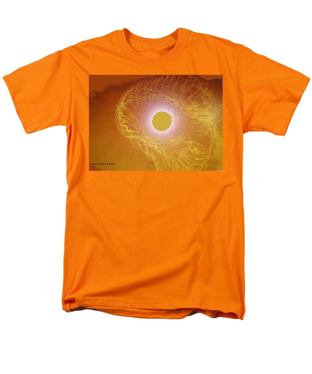 The Powerful Gaze Of The Almighty. Destroying Evil With His Almighty Sight. Men's T-Shirt (Regular Fit) featuring the digital art Eye Of God by Seth Weaver