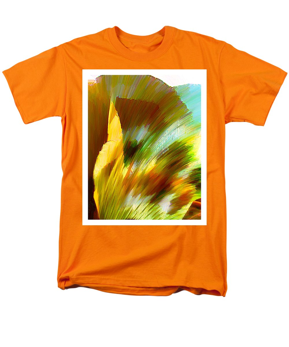 Landscape Digital Art Watercolor Water Color Mixed Media Men's T-Shirt (Regular Fit) featuring the digital art Feather by Anil Nene