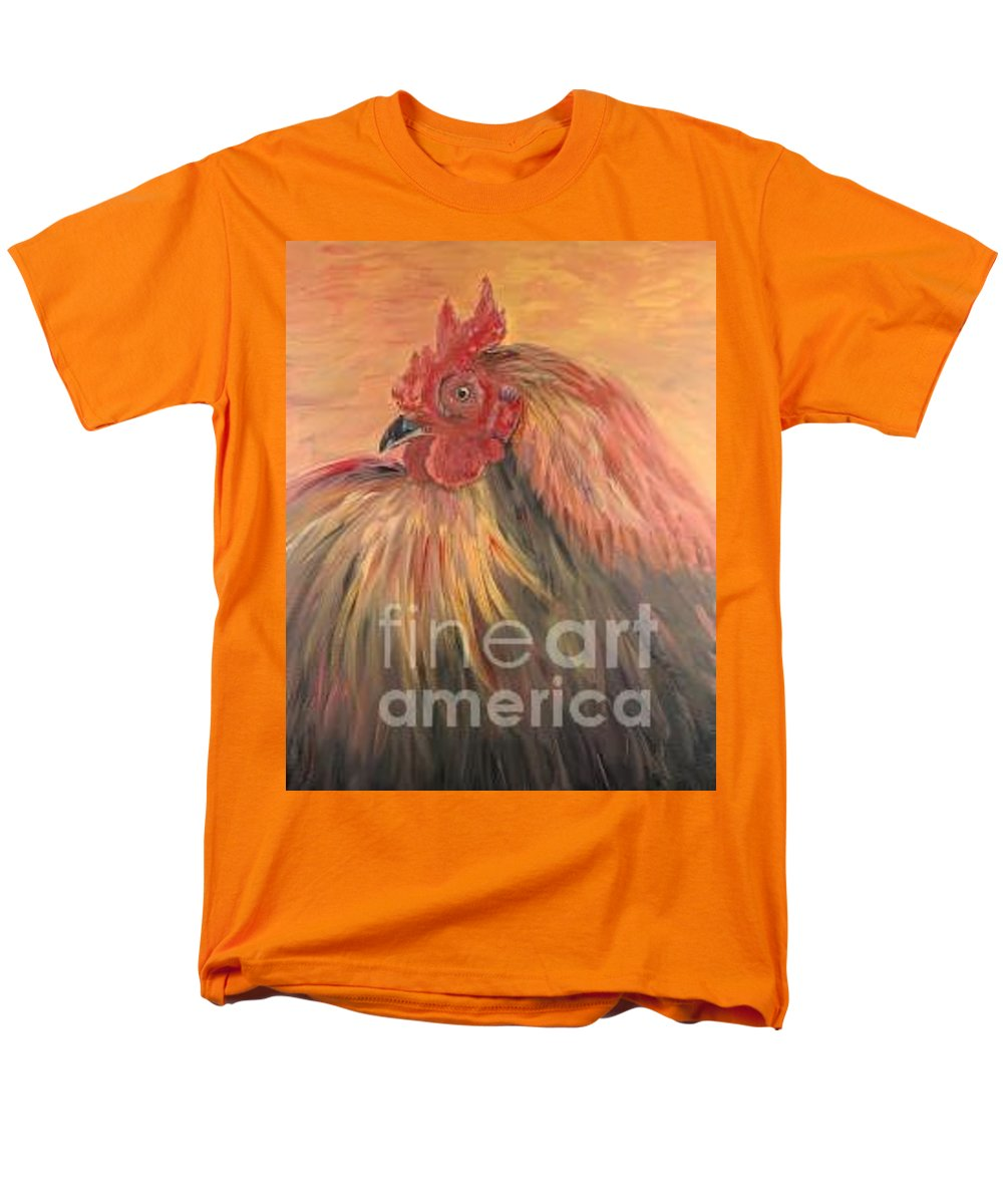 Rooster Men's T-Shirt (Regular Fit) featuring the painting French Country Rooster by Nadine Rippelmeyer