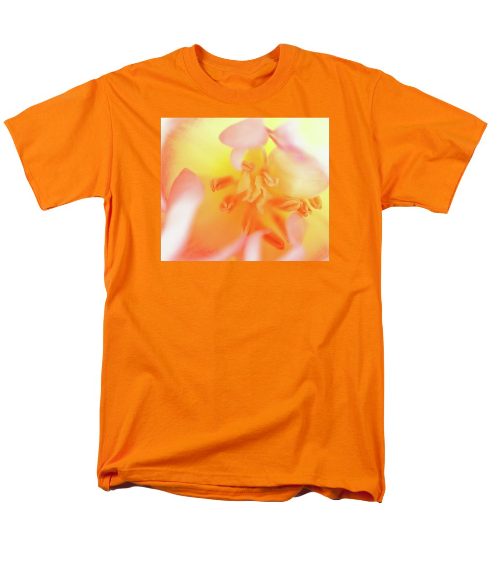 Internal Beauty Of A Tulip Men's T-Shirt (Regular Fit) featuring the photograph From The Heart by Bill Morgenstern