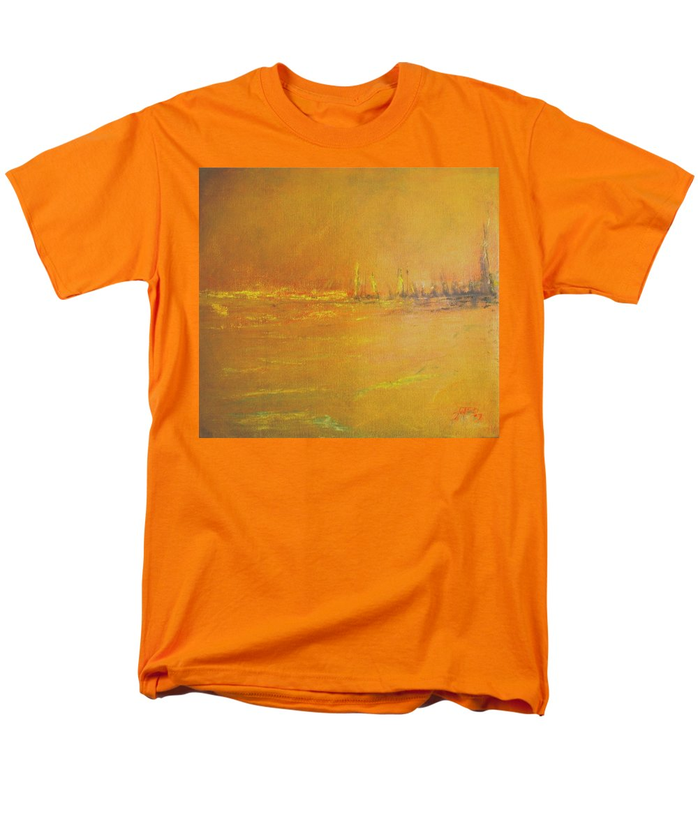 Painting Men's T-Shirt (Regular Fit) featuring the painting Golden Sky by Jack Diamond