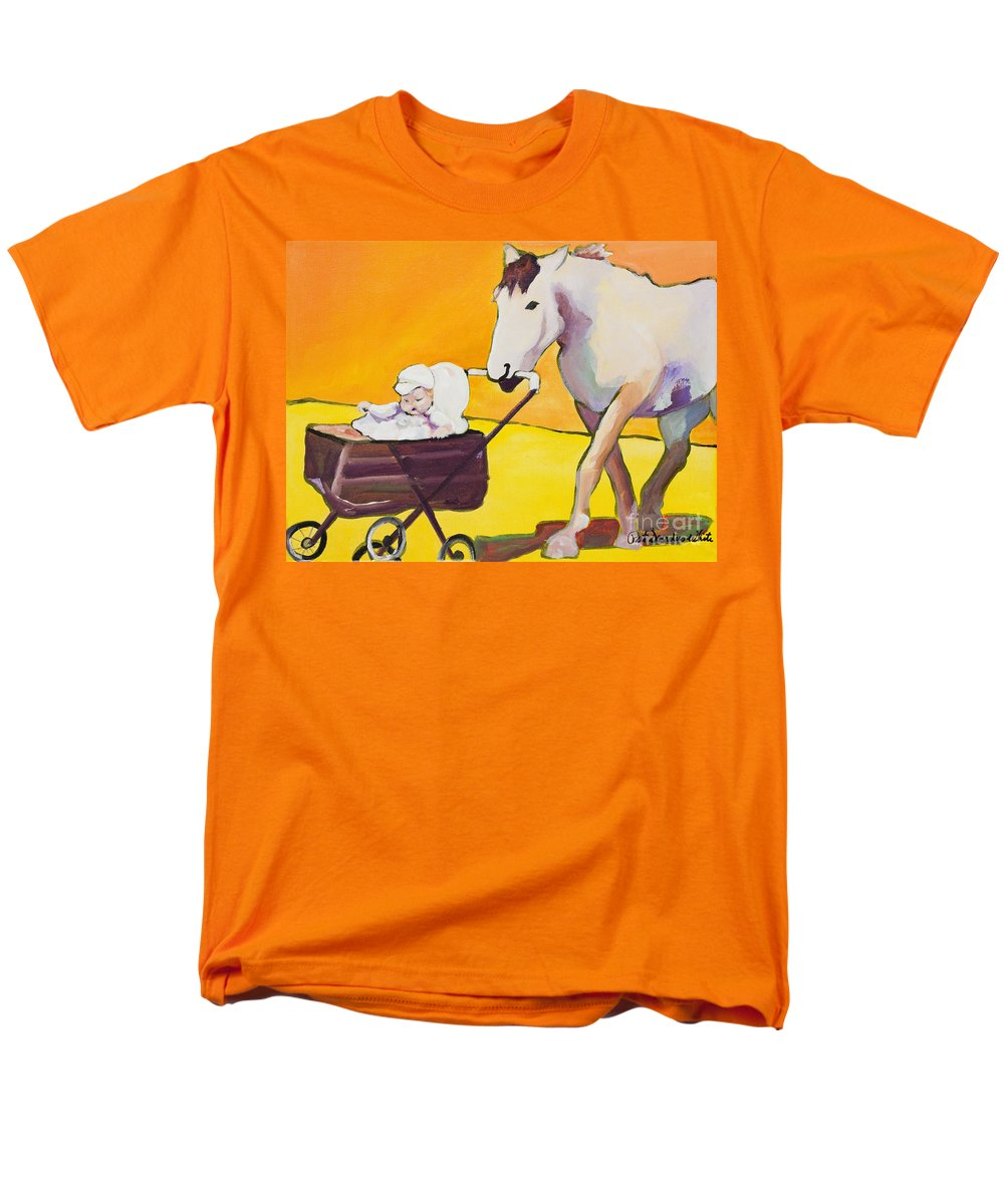 Animal Men's T-Shirt (Regular Fit) featuring the painting Jake by Pat Saunders-White