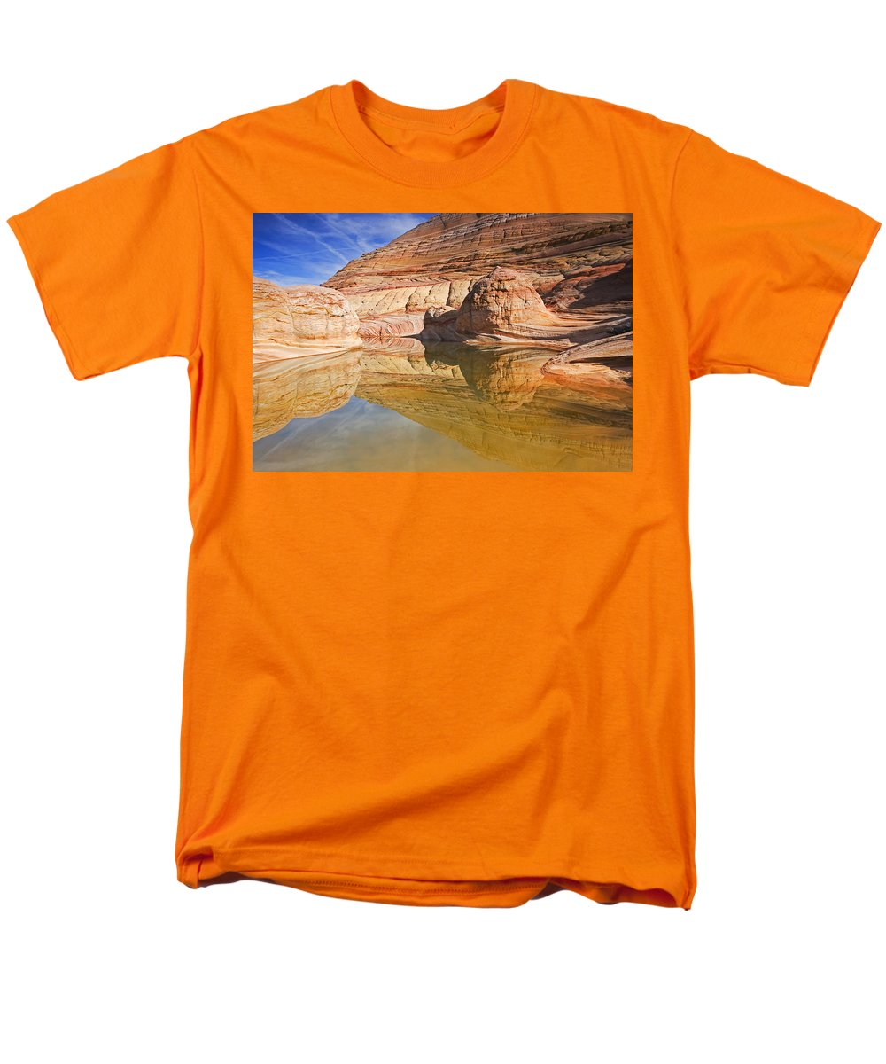Pool Men's T-Shirt (Regular Fit) featuring the photograph Sandstone Illusions by Mike Dawson