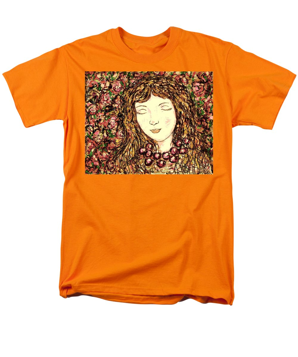 Sleeping Beauty Men's T-Shirt (Regular Fit) featuring the painting Sleeping Beauty by Natalie Holland