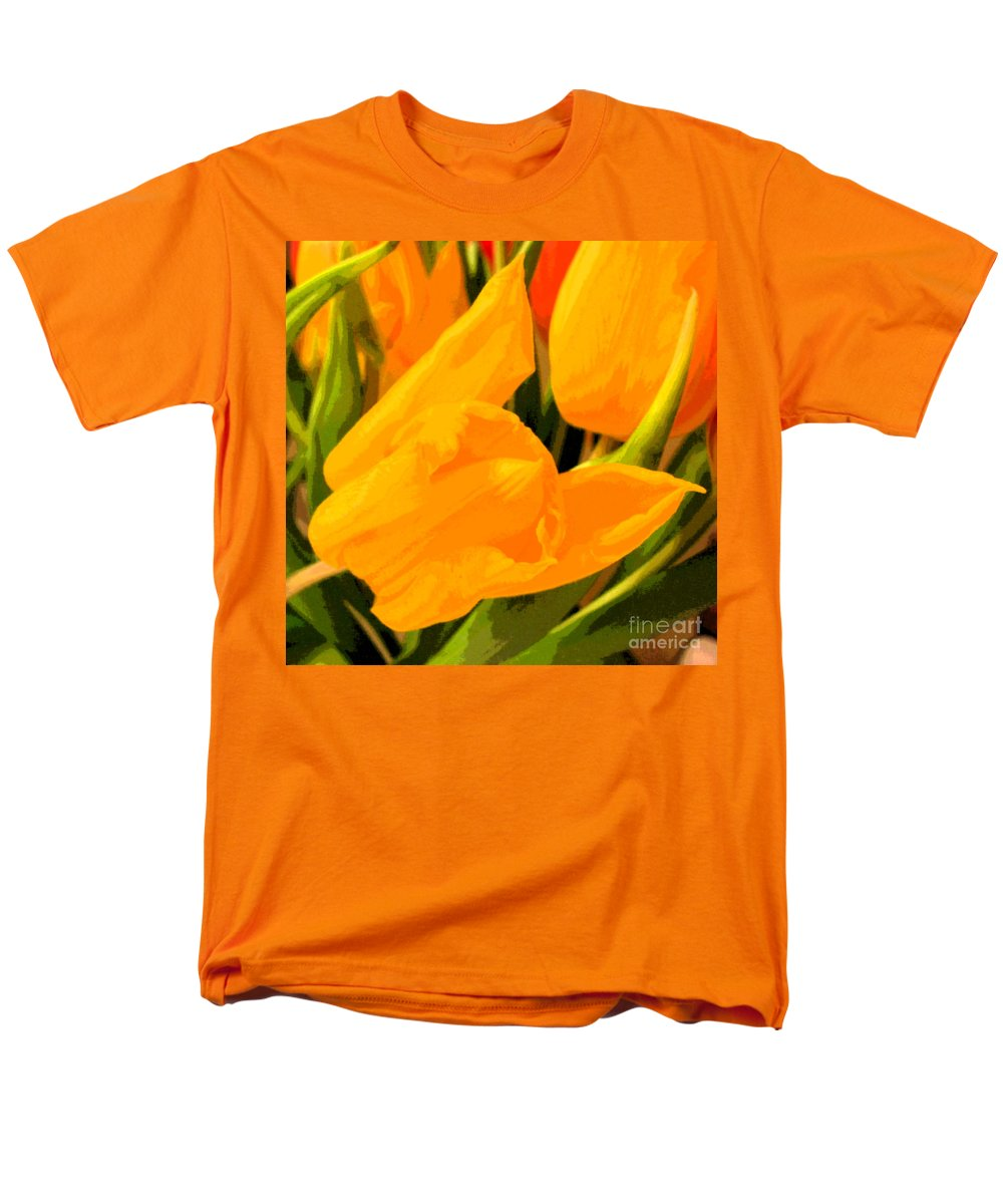 Tulip Men's T-Shirt (Regular Fit) featuring the photograph Tulips by Amanda Barcon