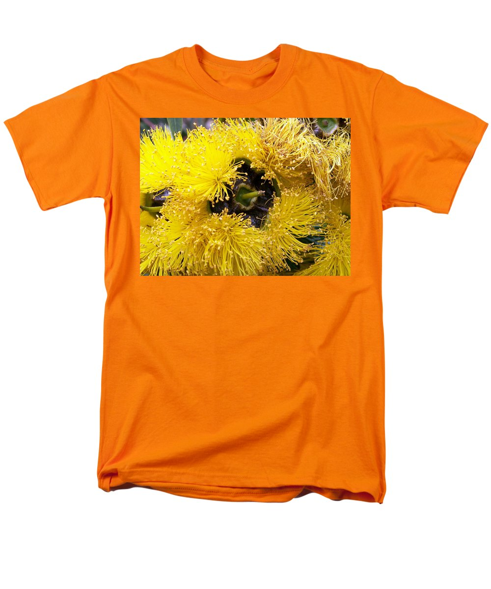 Flower Men's T-Shirt (Regular Fit) featuring the photograph Yellow Tree Flower by Amy Fose