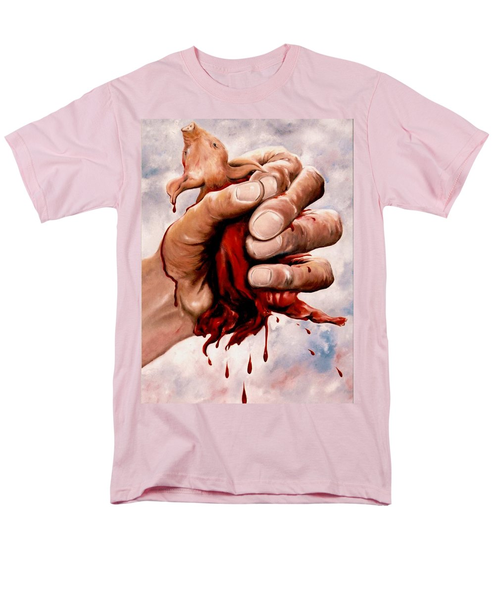 Surreal Men's T-Shirt (Regular Fit) featuring the painting A Pigs Life by Mark Cawood
