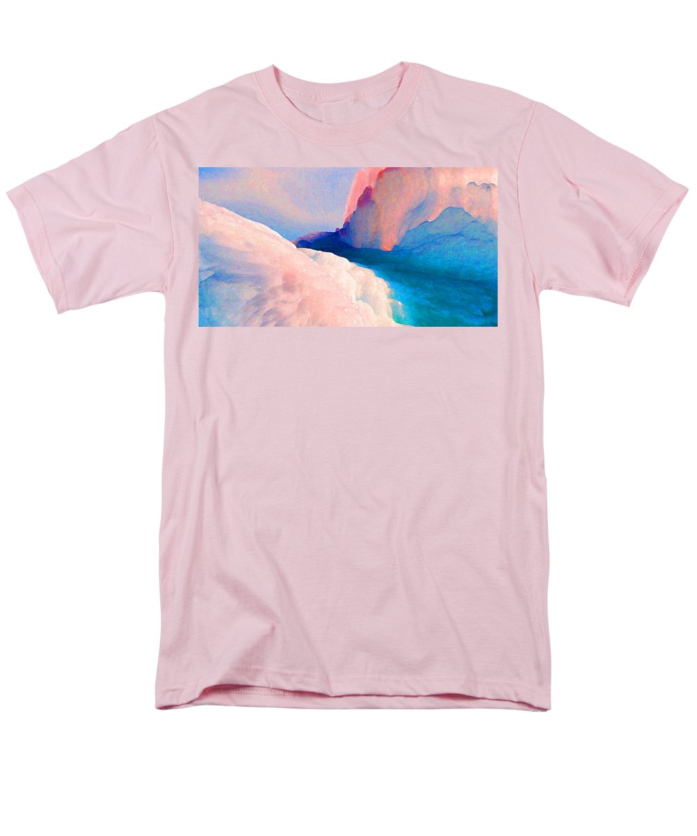 Abstract Men's T-Shirt (Regular Fit) featuring the photograph Ebb And Flow by Steve Karol