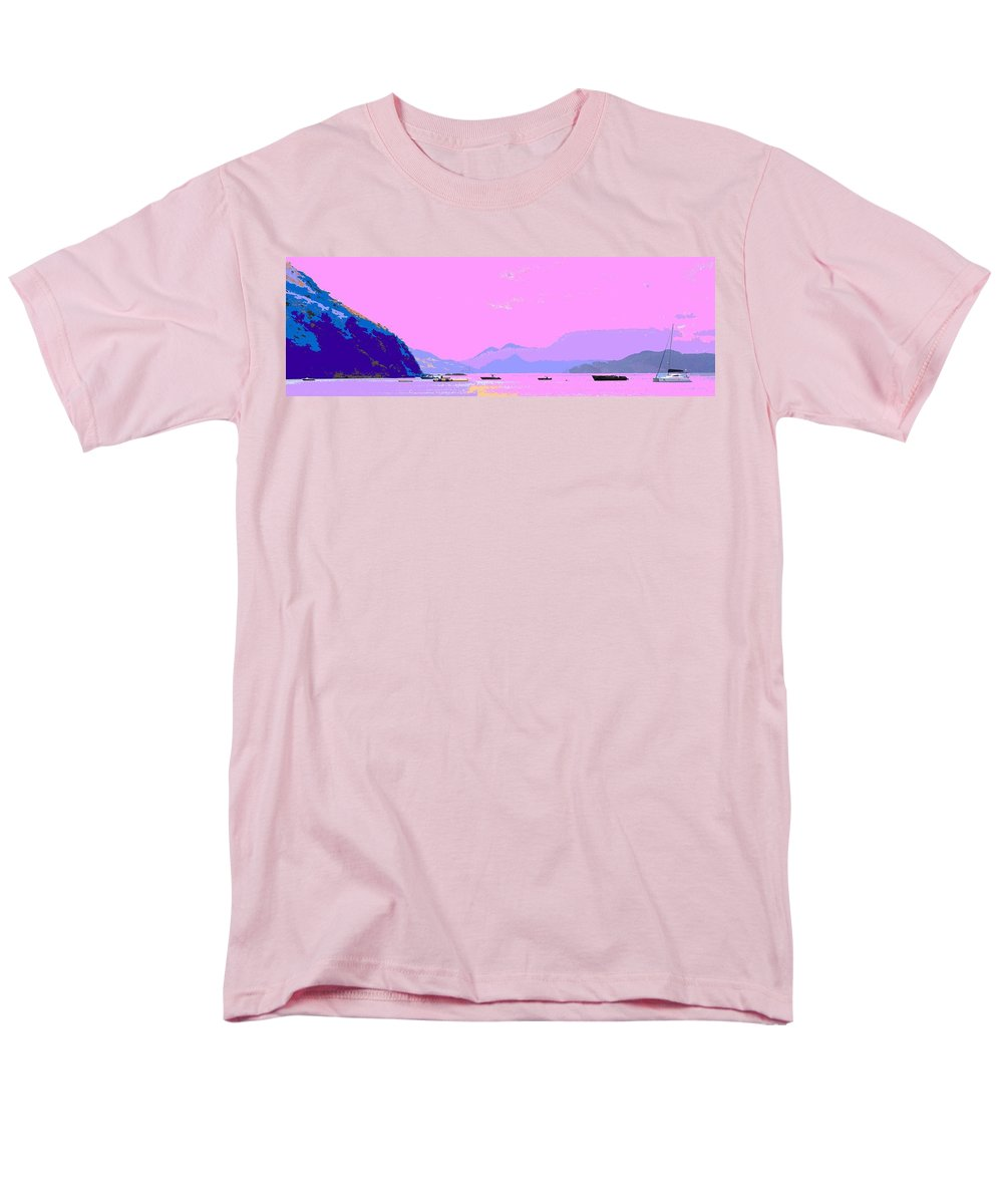 Frigate Men's T-Shirt (Regular Fit) featuring the photograph Frigate Bay Morning by Ian MacDonald
